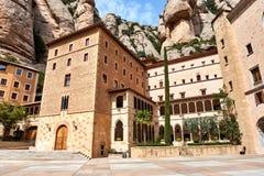 Cuadrado de Santa Maria de Montserrat españa Imagen de archivo libre de regalías