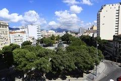 Cuadrado de Tiradentes, Rio de Janeiro, el Brasil Foto de archivo