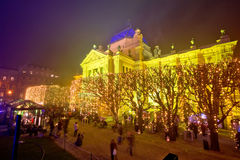 Cuadrado de Tomislav en la opinión del advenimiento de Zagreb Fotografía de archivo libre de regalías