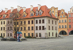 Cuadrado de Townhall, Jelenia Gora, Polonia Imagen de archivo libre de regalías