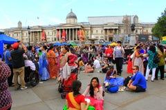 Cuadrado de Trafalgar del festival de Krishna Londres Imagen de archivo libre de regalías