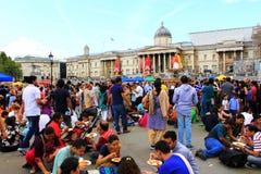 Cuadrado de Trafalgar del festival de Krishna Londres Imagen de archivo