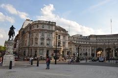 Cuadrado de Trafalgar en Londres Foto de archivo libre de regalías