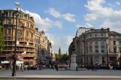 Cuadrado de Trafalgar en Londres Imagenes de archivo