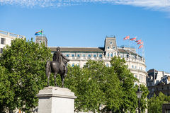 Cuadrado de Trafalgar en Londres Imágenes de archivo libres de regalías