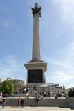 Cuadrado de Trafalgar, Londres Foto de archivo libre de regalías