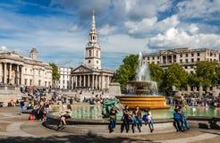 Cuadrado de Trafalgar, Londres foto de archivo