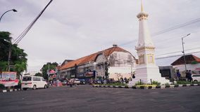 Cuadrado de Tugu Yogyakarta por la tarde metrajes