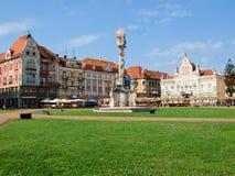 Cuadrado de Unirii, Timisoara, Rumania Fotos de archivo libres de regalías