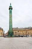 Cuadrado de Vendome en París Foto de archivo