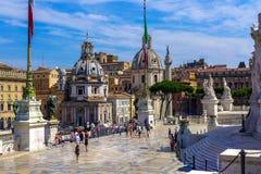 Cuadrado de Venezia s en Roma foto de archivo libre de regalías