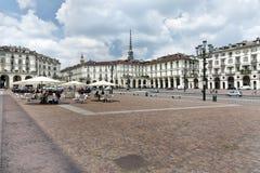 Cuadrado de Vittorio Veneto, Turín, Italia Foto de archivo libre de regalías