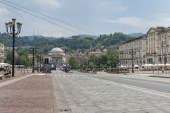 Cuadrado de Vittorio Veneto, Turín, Italia Imagen de archivo libre de regalías