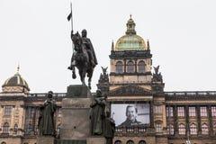 Cuadrado de Wenceslao en Praga Foto de archivo libre de regalías
