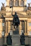 Cuadrado de Wenceslao, Praga Foto de archivo libre de regalías