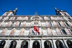 Cuadrado del alcalde de la plaza, Madrid, España fotografía de archivo libre de regalías