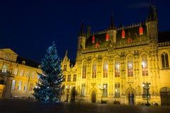 Cuadrado del Burg en Brujas, Bélgica imagen de archivo libre de regalías