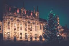 Cuadrado del Burg en Brujas, Bélgica foto de archivo