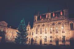 Cuadrado del Burg en Brujas, Bélgica fotografía de archivo libre de regalías
