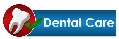 Cuadrado del círculo del cuidado dental Imagenes de archivo