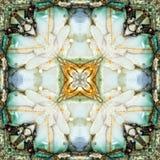 Cuadrado del caleidoscopio: capas del sílex, costa de Oregon Imagen de archivo libre de regalías