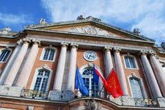 Cuadrado del capitolio en Toulouse Imagen de archivo libre de regalías