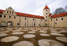 Cuadrado del castillo de Freiberg Fotos de archivo