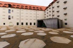Cuadrado del castillo de Freiberg Imagenes de archivo
