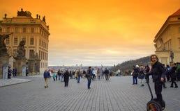 Cuadrado del castillo de Praga Imagen de archivo