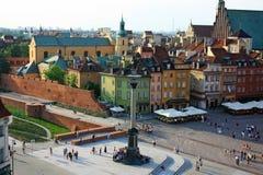 Cuadrado del castillo en Varsovia foto de archivo libre de regalías