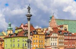 Cuadrado del castillo en Varsovia Fotografía de archivo libre de regalías