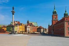 Cuadrado del castillo en Varsovia, Polonia Imagen de archivo