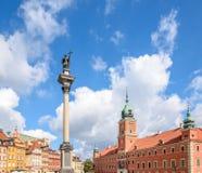 Cuadrado del castillo en Varsovia, Polonia Imagen de archivo libre de regalías