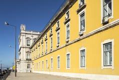 Cuadrado del comercio de Lisboa Foto de archivo
