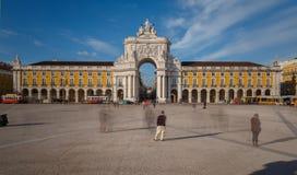 Cuadrado del comercio en Lisboa céntrica (Portugal) Fotografía de archivo libre de regalías