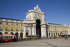 Cuadrado del comercio en Lisboa, Portugal, enero de 2012 Foto de archivo libre de regalías