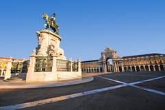 Cuadrado del comercio, Lisboa Fotografía de archivo