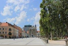 Cuadrado del congreso, Ljubljana, Eslovenia Foto de archivo libre de regalías