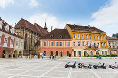 Cuadrado del consejo el 15 de julio de 2014 en Brasov, Rumania Fotografía de archivo