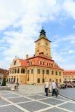 Cuadrado del consejo el 15 de julio de 2014 en Brasov, Rumania Foto de archivo libre de regalías