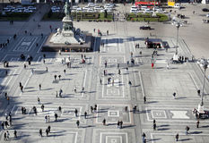 Cuadrado del Duomo, Milano Foto de archivo libre de regalías