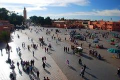 Cuadrado del EL-Fnaa de Jemaa Marrakesh, Marruecos Imagen de archivo