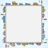 Cuadrado del marco de los coches Fotografía de archivo
