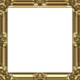Cuadrado del oro de los marcos Foto de archivo