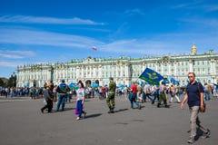 Cuadrado del palacio el cuadrado de ciudad central de St Petersburg Imagen de archivo