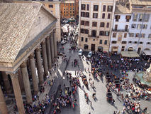 Cuadrado del panteón, Roma Foto de archivo libre de regalías