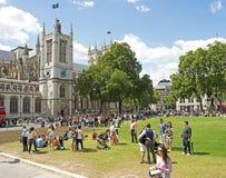 Cuadrado del parlamento y abadía de Westminster Fotos de archivo