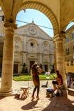 Cuadrado del Pio II de la plaza en Pienza Toscana Fotografía de archivo libre de regalías