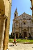 Cuadrado del Pio II de la plaza en Pienza Toscana Foto de archivo libre de regalías