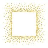 Cuadrado del punto del oro Imagen de archivo libre de regalías